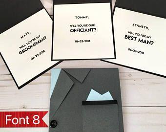 will you be my groomsman asking groomsmen cards best man