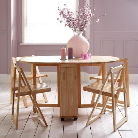 Rubberwood Butterfly Table With 4 Chairs  Dunelm  Home Dining Gorgeous Small Dining Room Table With Bench Decorating Design