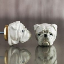 Bulldog Head Keramische Knop deurbeslag Pinterest Door knobs