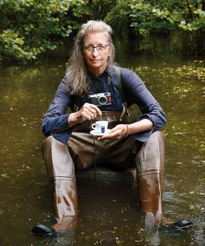 Doing some research on Lavazza coffee this morning, I ran across this 2012 calendar page. This is a self-portrait by Annie Leibowitz.