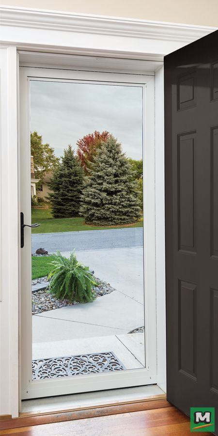 Enhance Any Entrance With A Larson Full View Storm And Screen Door Equipped With An Interchangeable Screen T Glass Screen Door Screen Door Glass Storm Doors