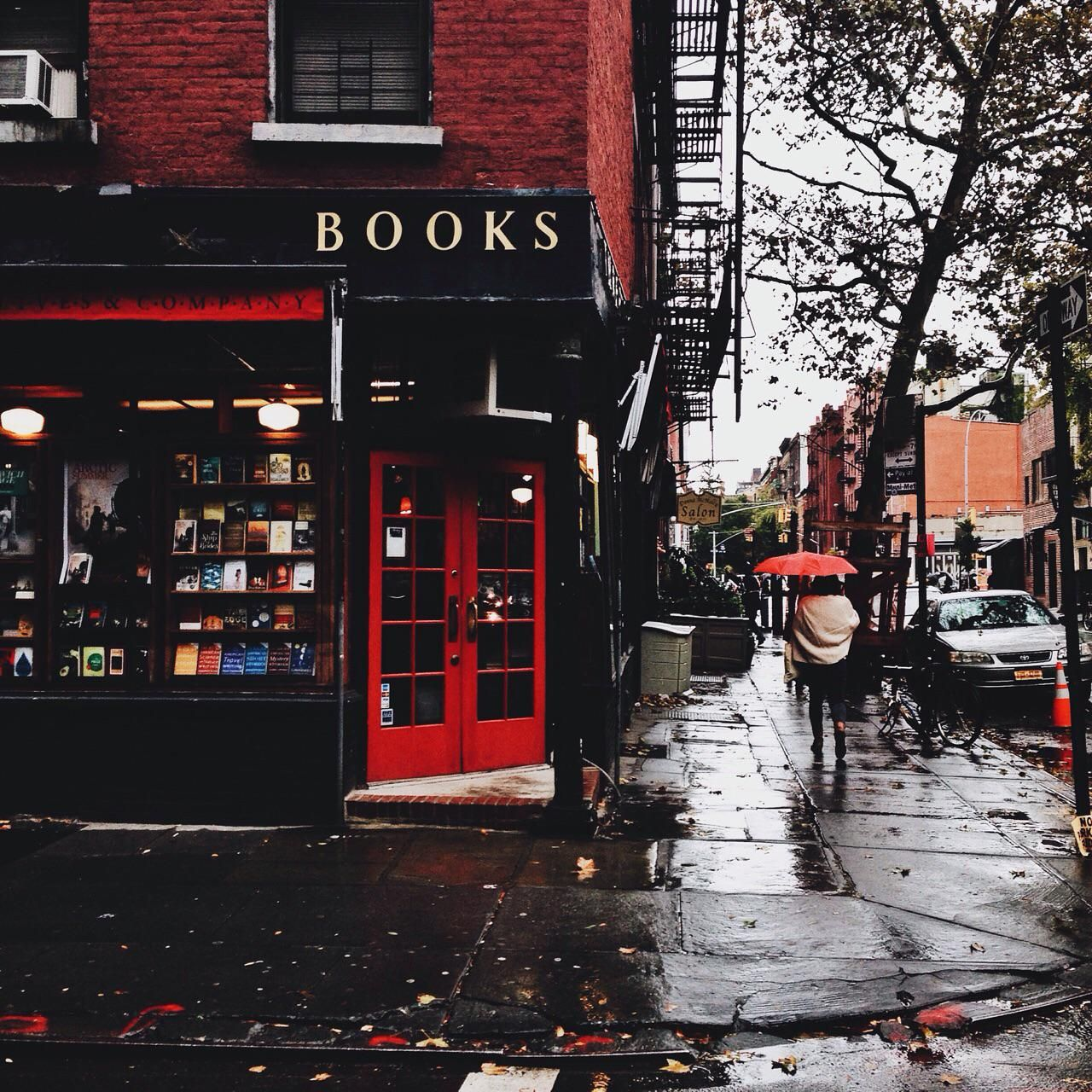 Cozy corner book store Check out to get