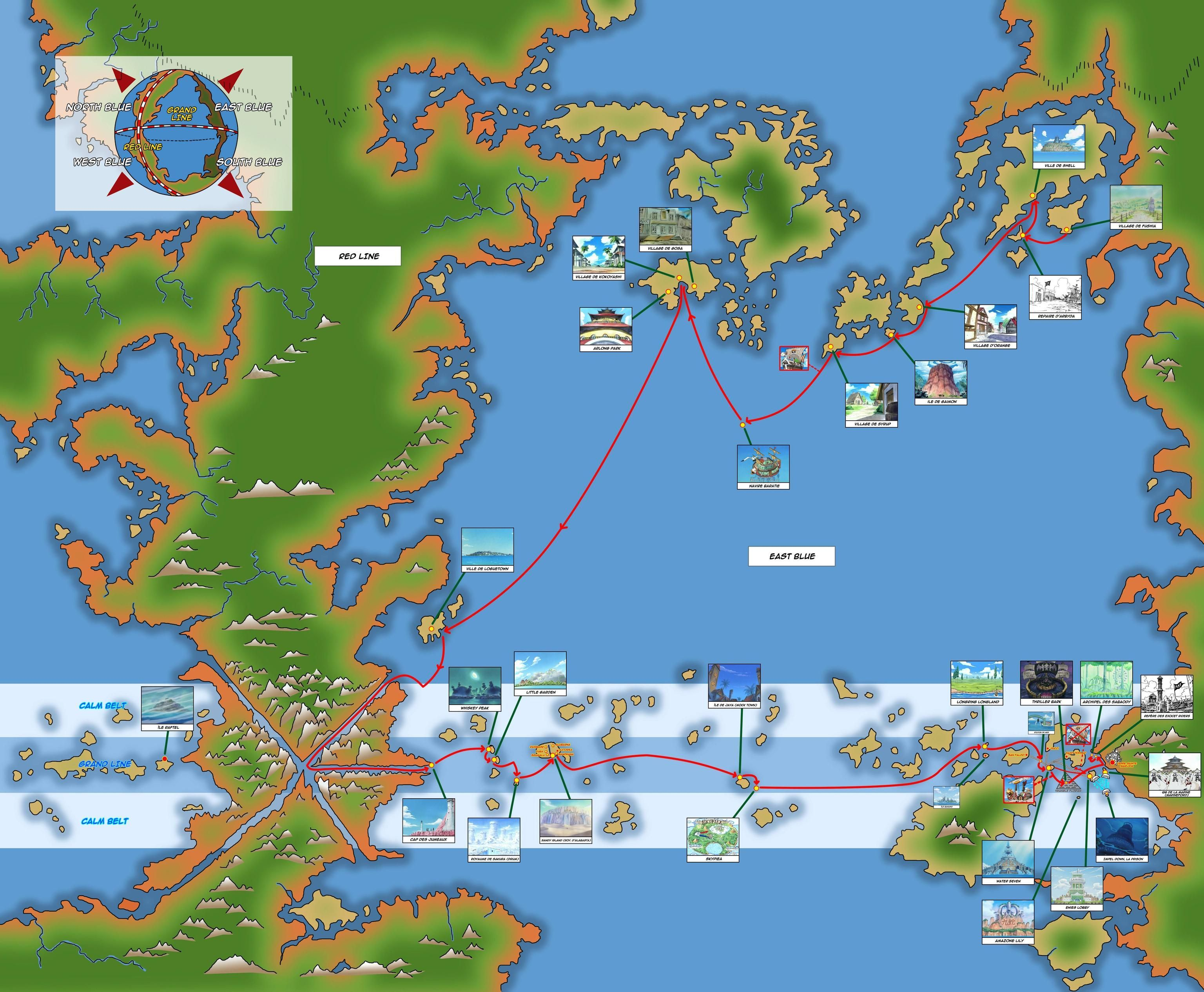 One Piece Map Map Of The Op World At One Piece | Drawing references for 3d  One Piece Map