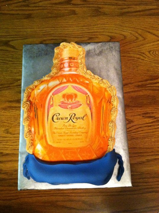 Crown Royal Bottle Cake Special Cakes And Cupcakes