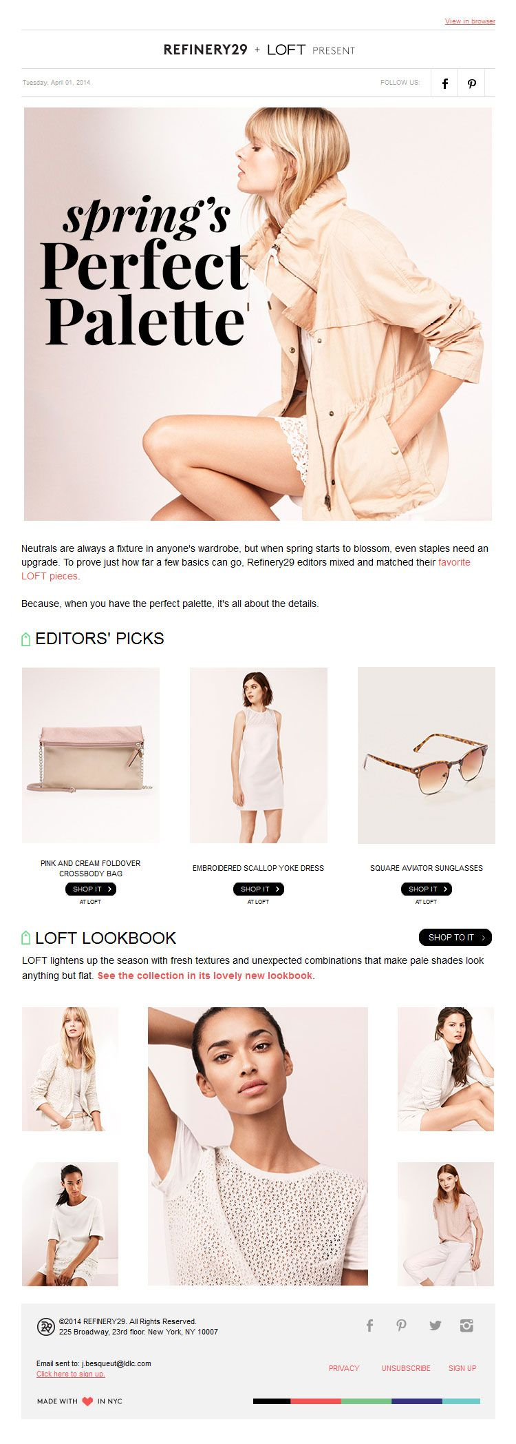 Example for catalog email ... R29 newsletter, email design