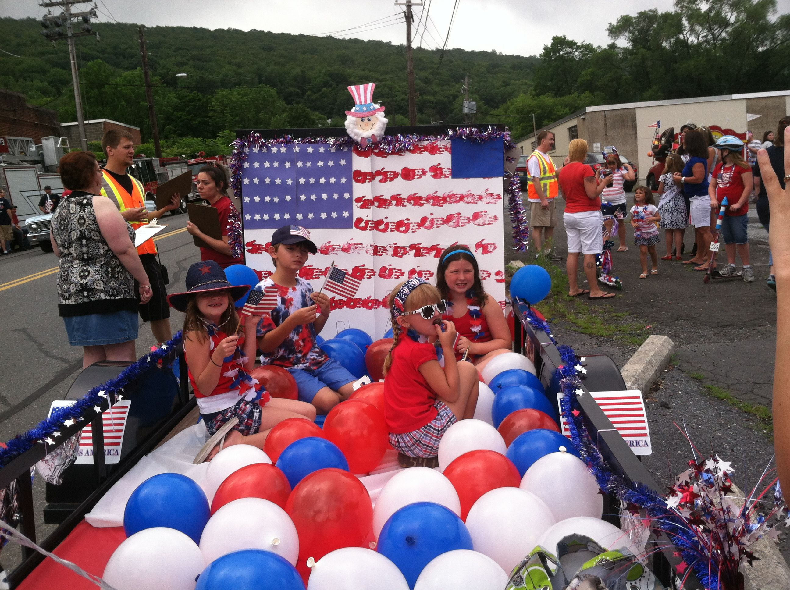 Th of july parade float nd place win summer
