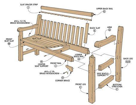 Redwood Garden Bench Woodsmith Plans Ulichnaya Mebel Mebel