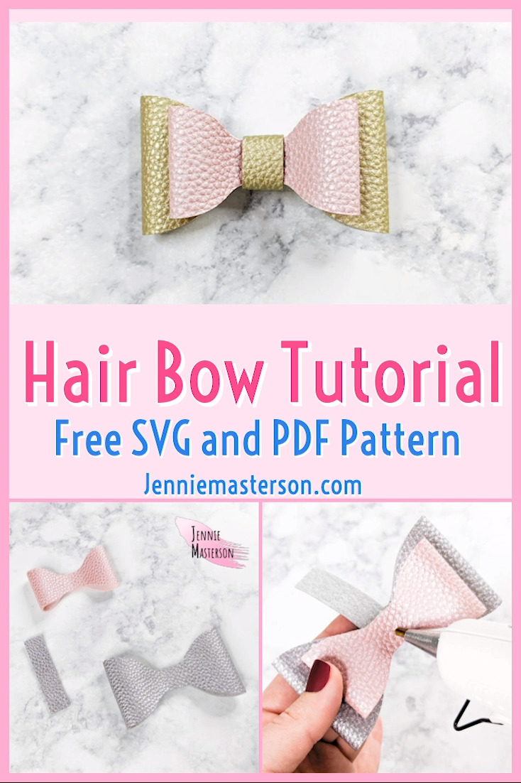 DIY Hair Bows: Free SVG and PDF #hairbows