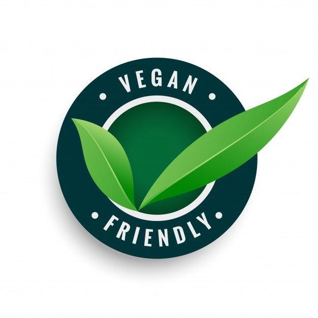 Download Vegan Friendly Leaves Label In Green Color For