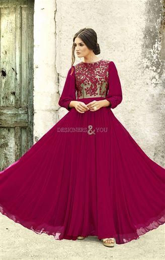 Stylish Royal Designer Evening Gown For Wedding Reception Visit
