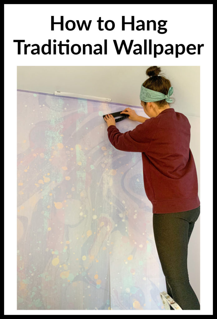 How To Hang A Traditional Wallpaper Mural Emmy S Galactic Wall Traditional Wallpaper Mural Wallpaper Mural