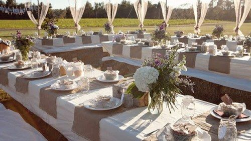 Installation d coration de table mariage campagne chic for Deco de table champetre
