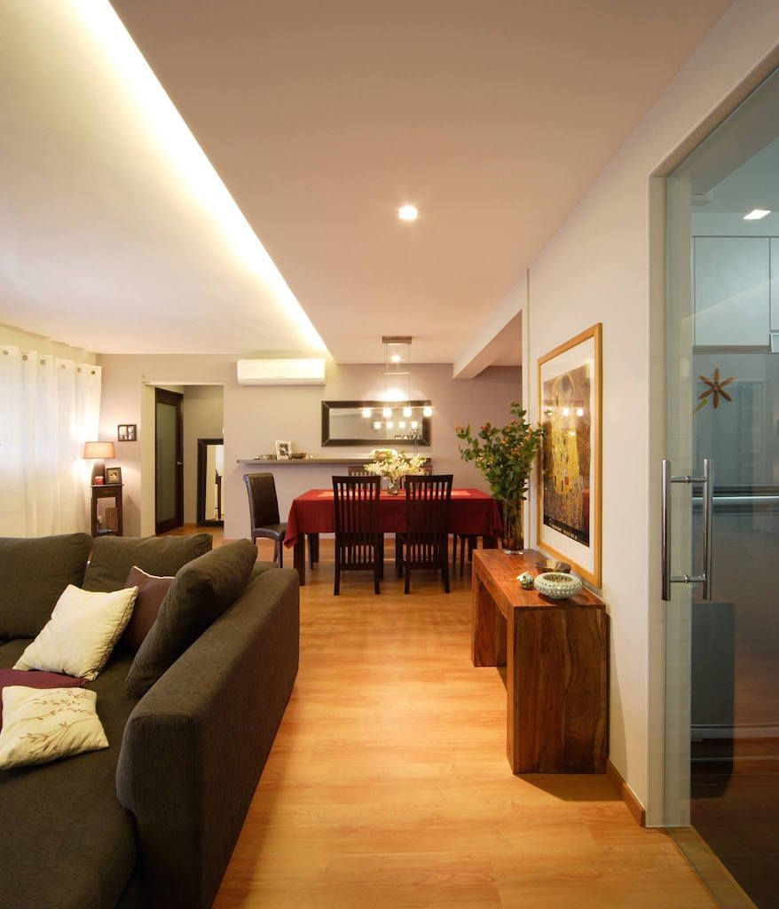 Home Design Ideas For Hdb Flats: HDB 5-Room Modern Look With Wooden Furnishing