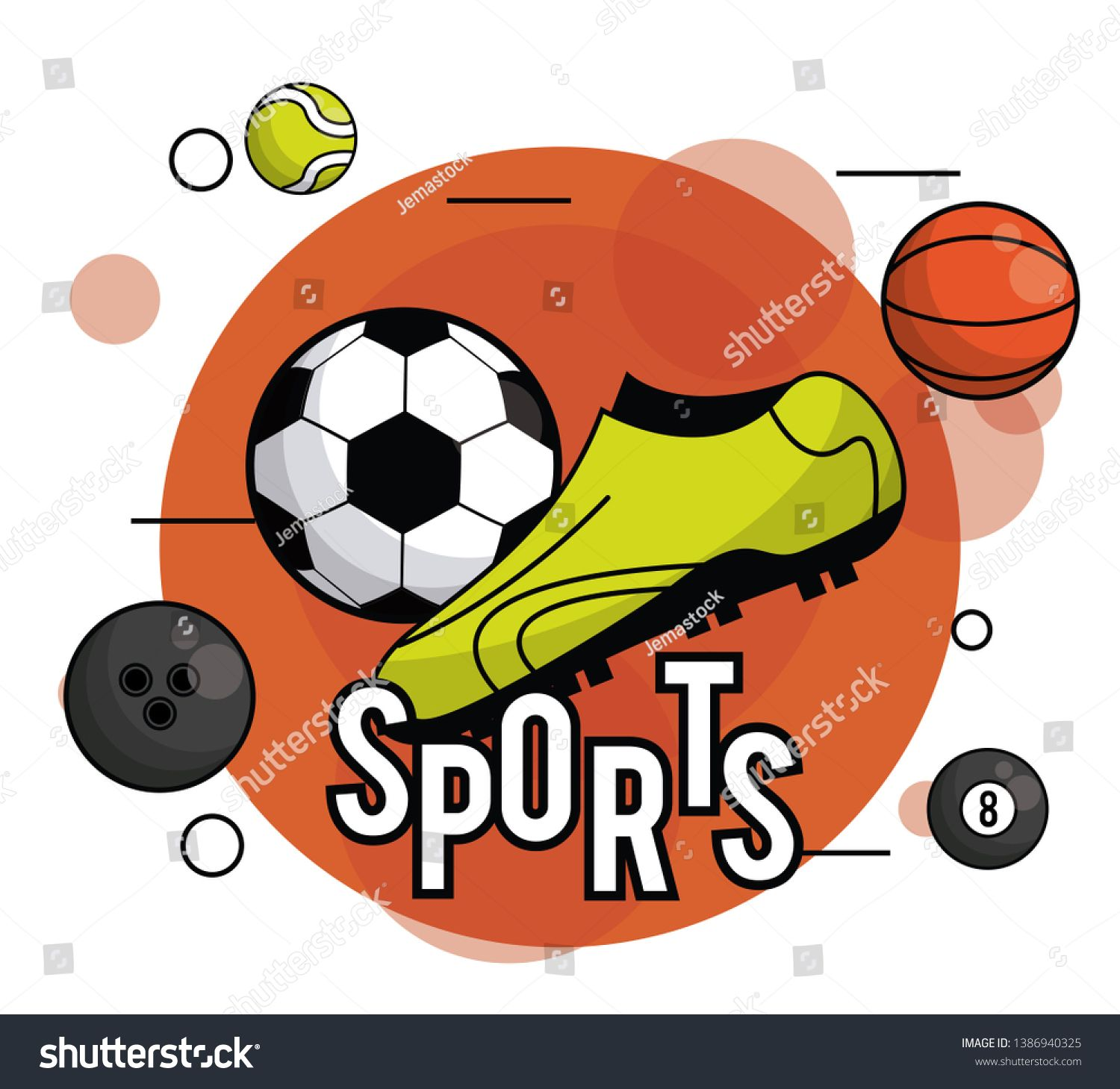 Sports Balls Equipment Vibrant Card Round Frame Ad Sponsored Equipment Balls Sports Frame With Images Sports Balls Sports Frames Sports