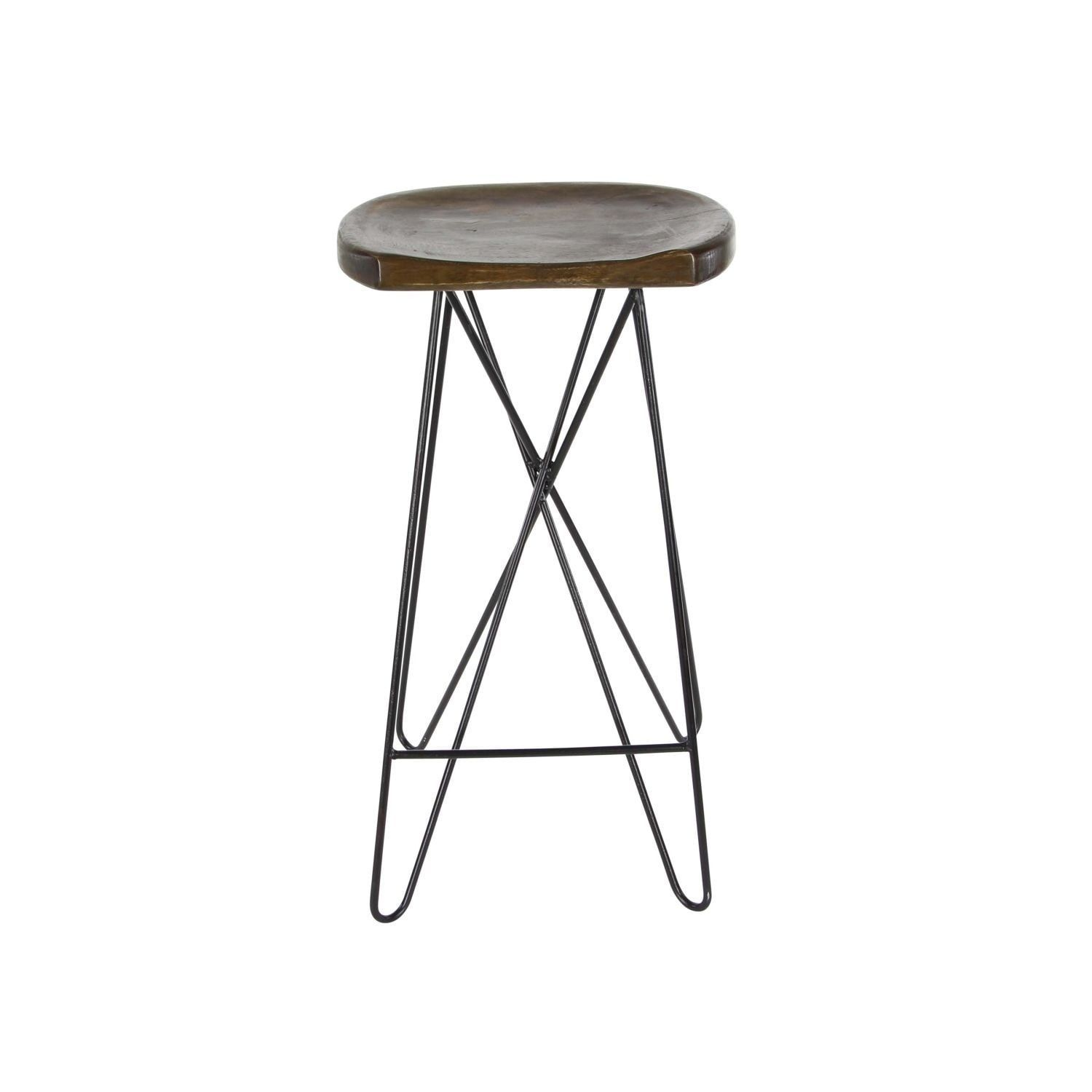 Fine Studio 350 Wood Metal Bar Stool 16 Inches Wide 30 Inches Squirreltailoven Fun Painted Chair Ideas Images Squirreltailovenorg