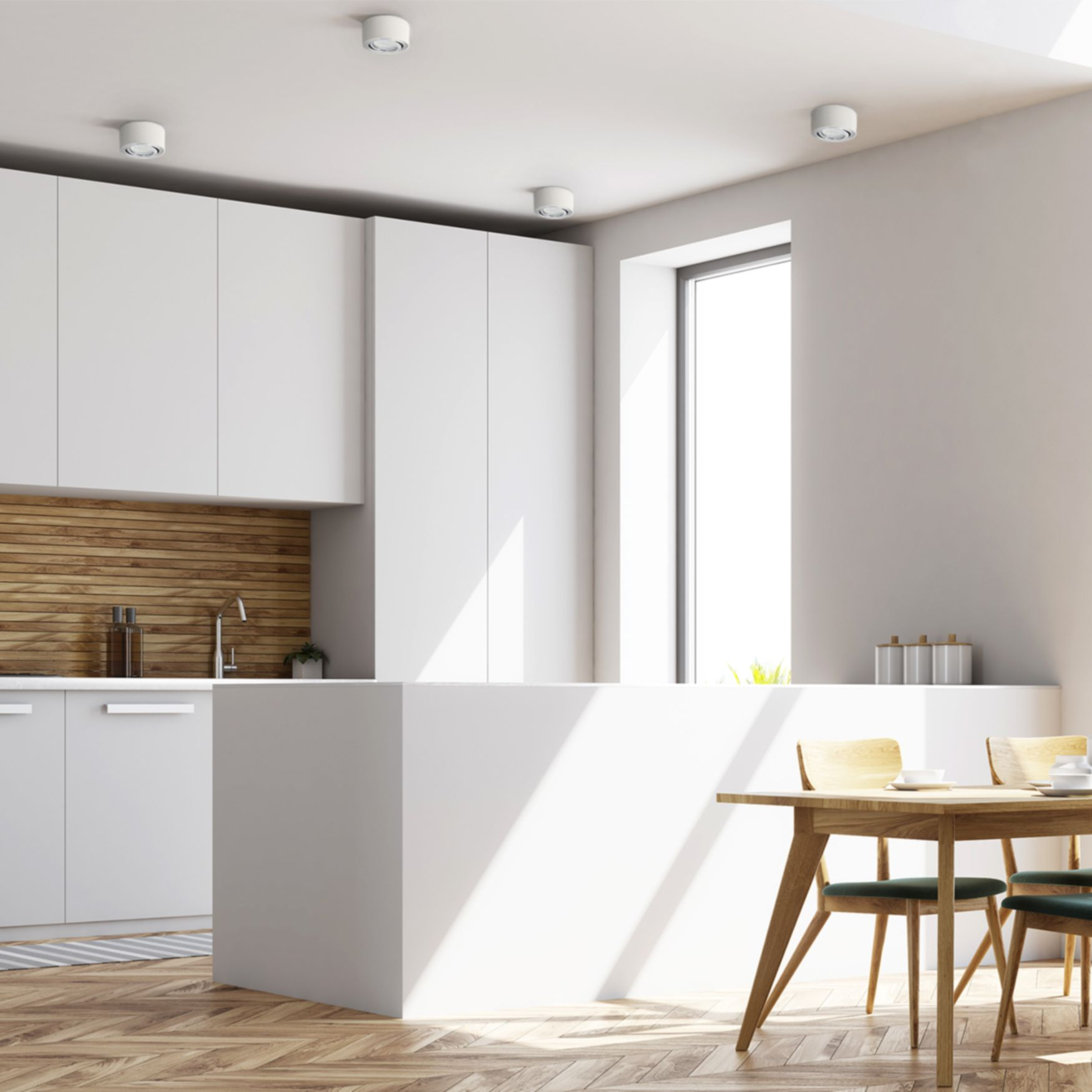 Celi 1w Flacher Decken Aufbauspot Weiss Schwenkbar Inkl Led Modul 5w Warmweiss 230v In 2020 Aufbauspots Led Deckenspots Beleuchtung Wohnzimmer Decke