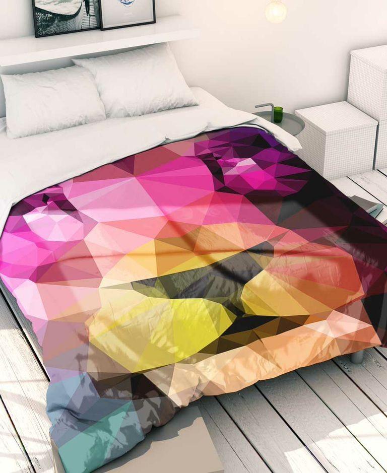 Die Coole Bettwasche Mit Grafik Print Bringt Einen Modischen Touch