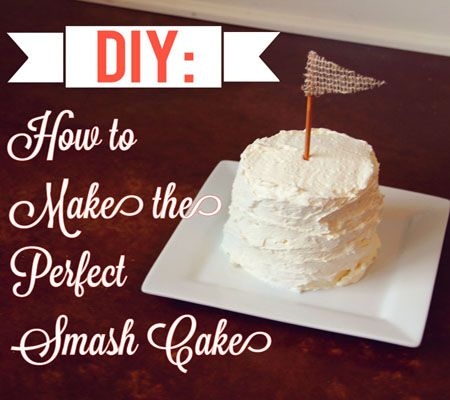 DIY Smash Cake | Matthew's birthday ideas | First birthday parties ...