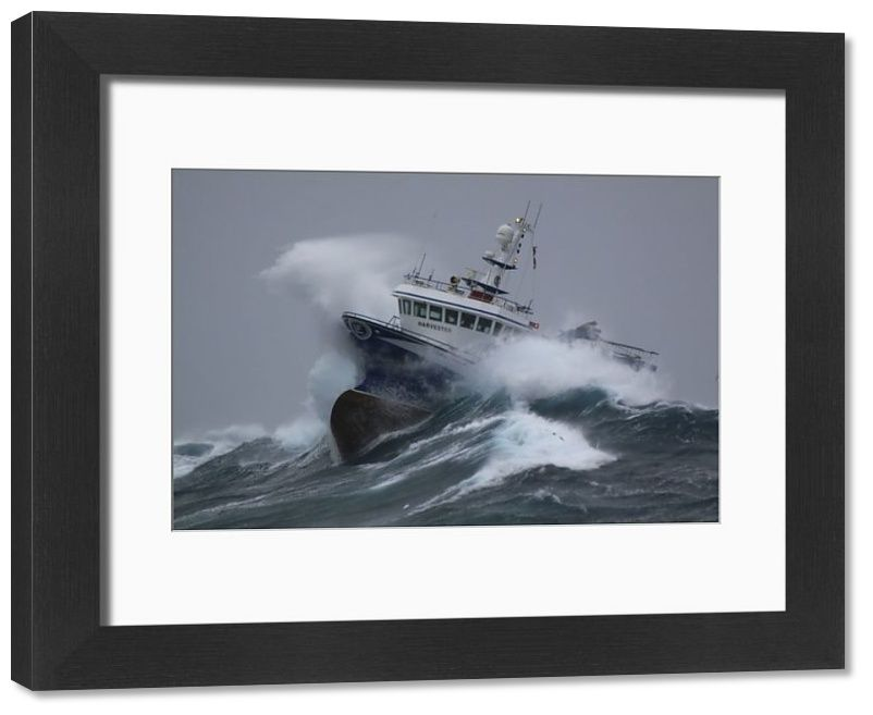 Framed Print-Fishing vessel