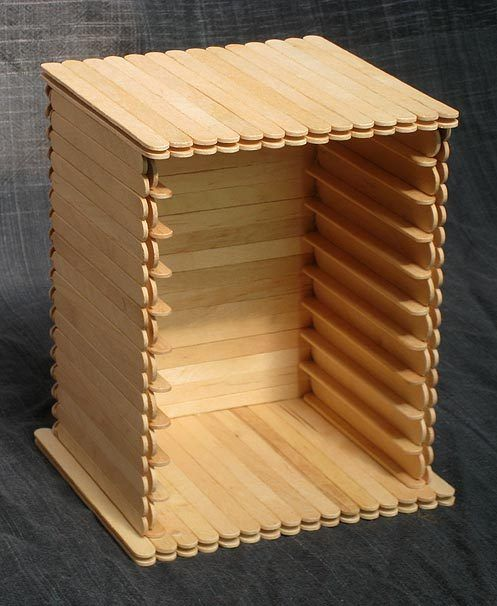 Popsicle stick cd rack - Trabajos manuales en madera ...
