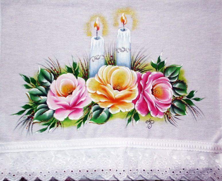 Pintura em tecido passo a passo com fotos pintura em for Pinturas navidenas