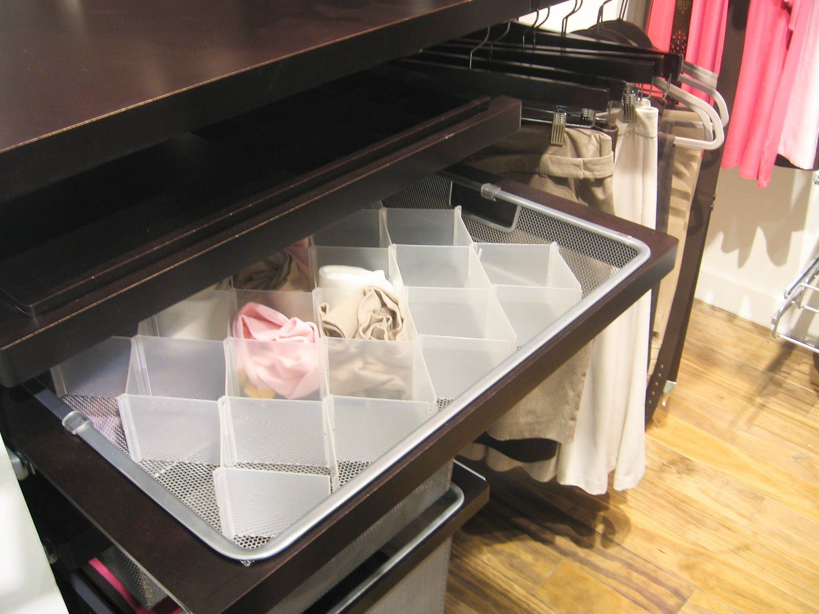 Nice The Container Store   Compartment Drawer Organizer For Socks U0026 Hosiery  Inside Elfa Closet Drawer.