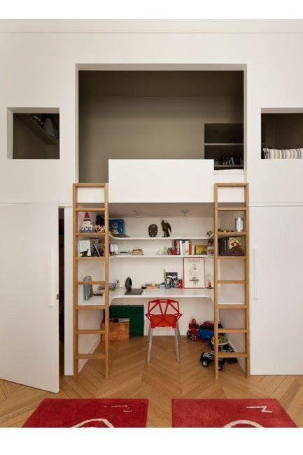 platzsparend schreibtisch unterm bett - Coolste Etagenbetten Mit Schreibtisch