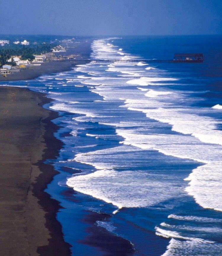South Pacific Beaches: The Guatemalan Pacific Coast Line.