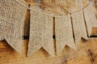 Burlap and Twine Bunting