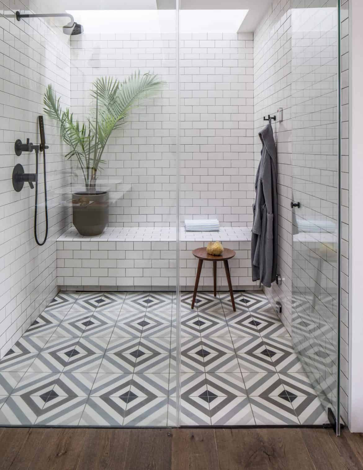 44 Modern Shower Tile Ideas And Designs 2020 Edition In 2020 Modern Shower Tile Tile Bathroom Tile Remodel