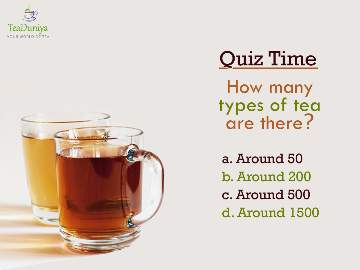 #Quiz Time! Let's see how many tea enthusiasts are there...