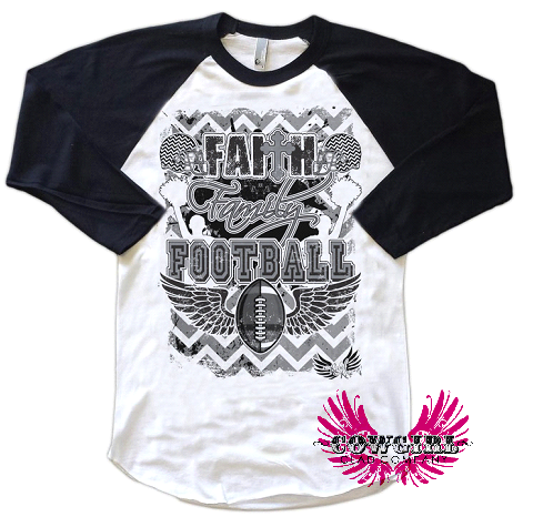 Must have!  cowgirl Clad Company - Faith, Family, Football, $34.00 (http://www.cowgirlclad.com/faith-family-football/)