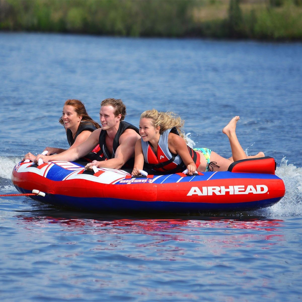 Airhead Shockwave 3 Person Water Towable Products Pinterest Inflatable Towing Harness
