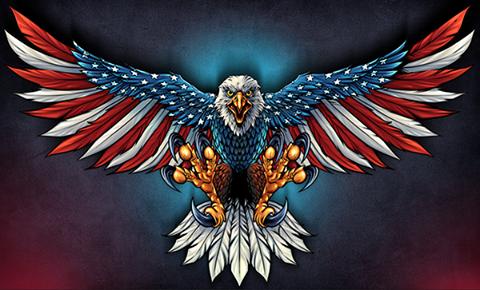 American Flag Decal Eagle Wallpaper Patriotic