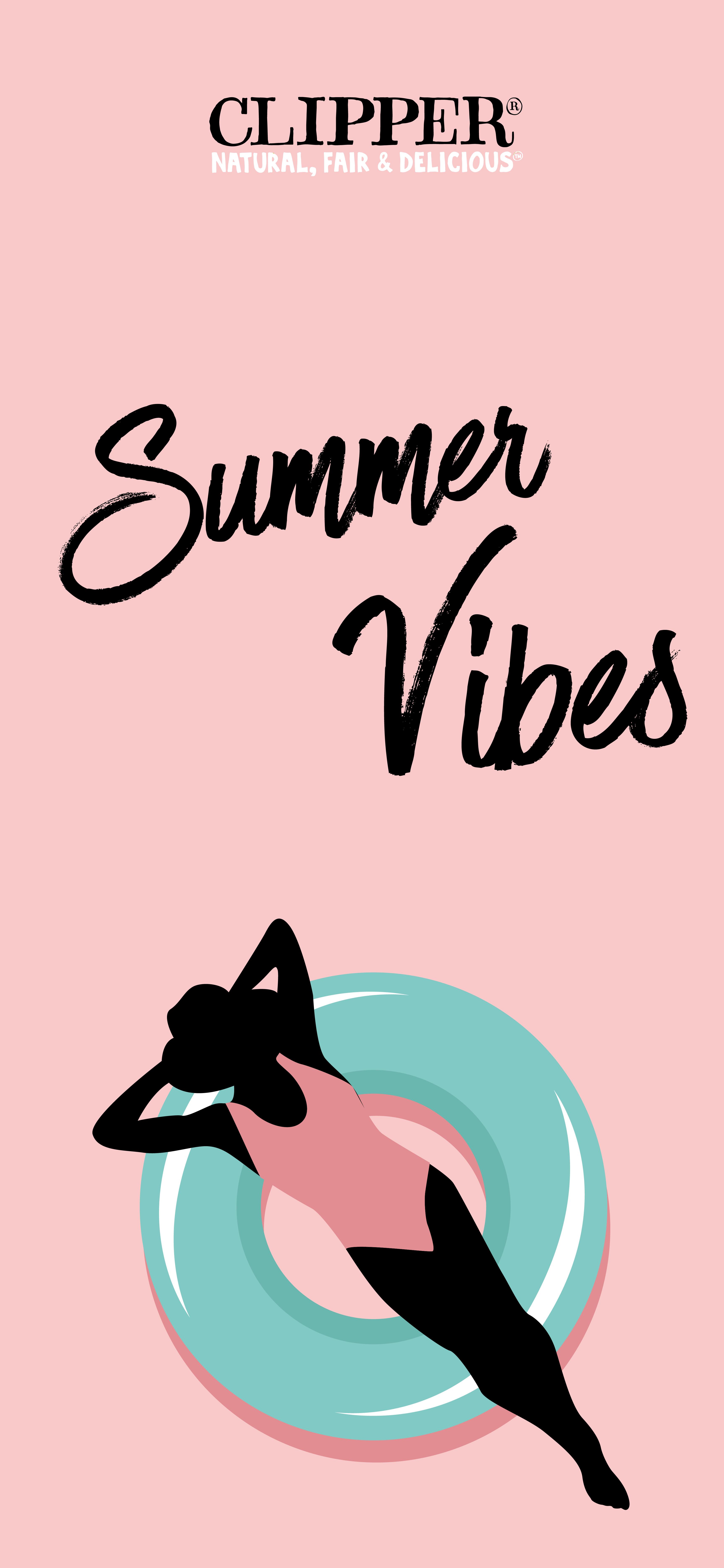 Clipper Vous Propose Des Fonds D Ecrans Colores Pour Vos Telephones Et Iphone Good Vibes Only Clipper Tea Summer Vibes