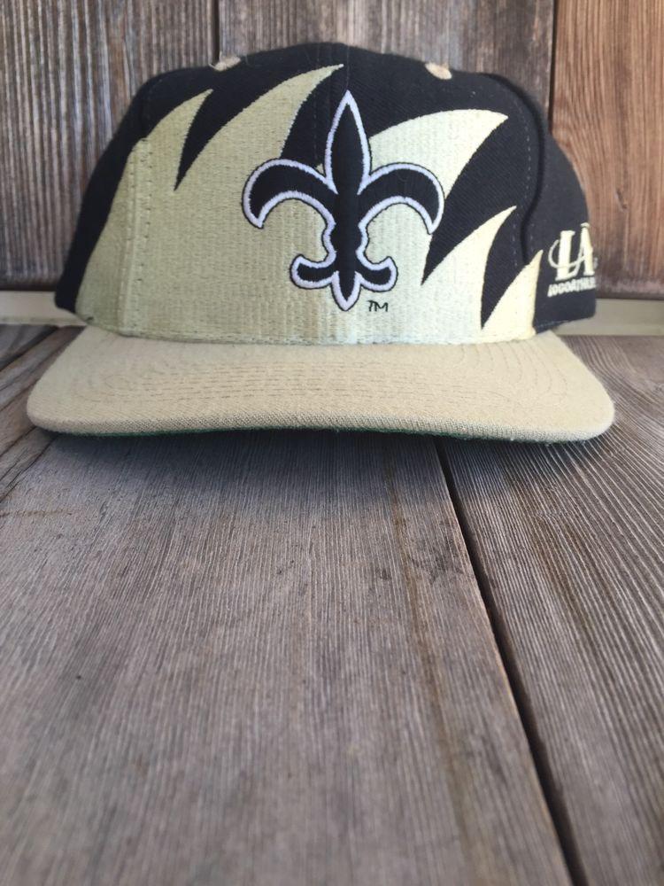 77f2ab2c3 New Orleans Saints Vintage Snapback - Vtg Hat Cap Logo Athletic Shark Tooth   LogoAthletic  NewOrleansSaints