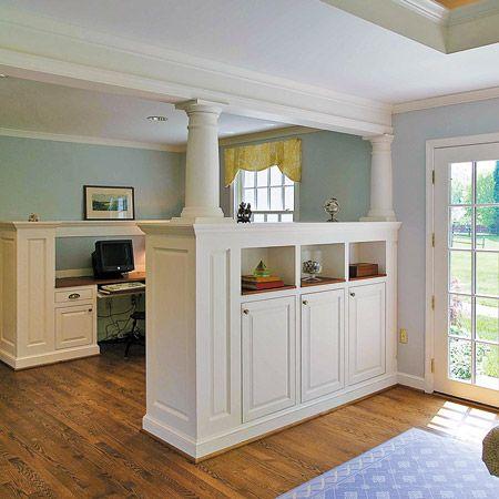 Half Wall Bookcase Room Divider