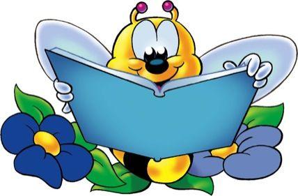 Orange Bees Reading Clipart | Art journaling inspiration ...
