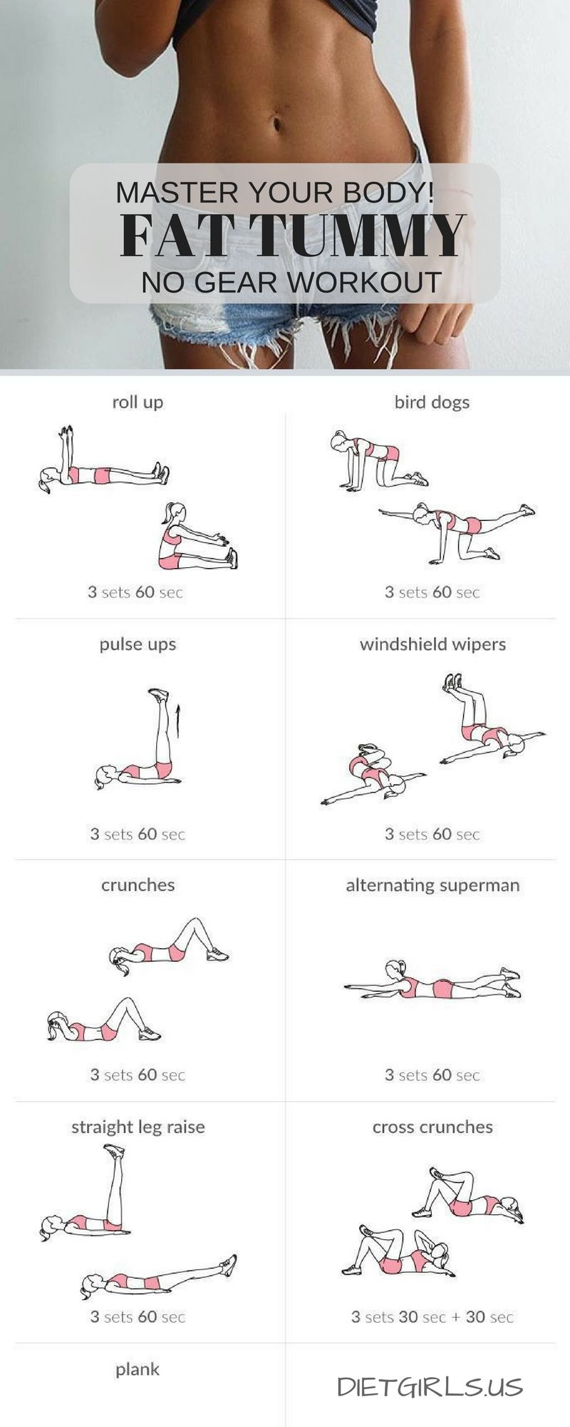 no gear flat tummy workout