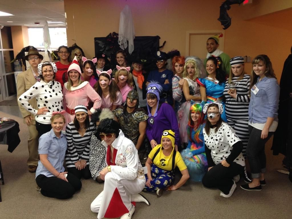The office went all out this year!! What fun. Happy Halloween  #charlottedentistry #halloween #friends #costume #fun