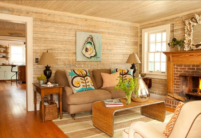 Small Living Room cottage with cozy, rustic, contemporary ...