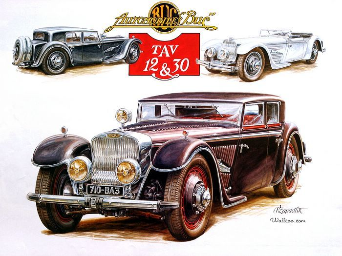Vintage Cars And Racing Scene Automotive Art Of Vaclav Zapadlik