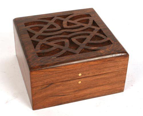 Decorative Box Plans Free : ? sustainable sheesham wood box with celtic design
