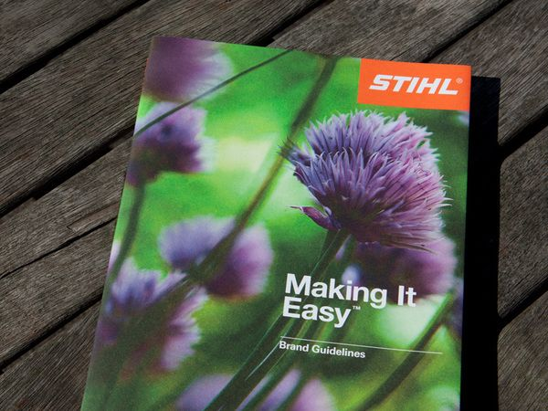 STIHL - Making It Easy Brand Guidelines by Steven Arnold, via Behance