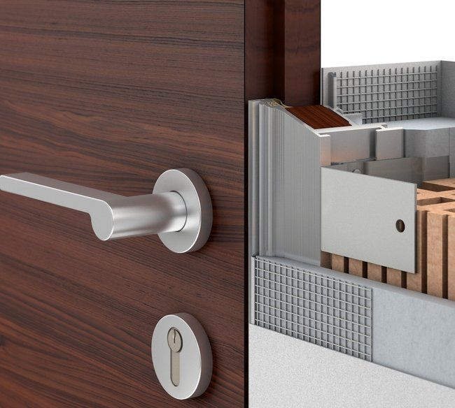 Flush door frame | Puertas lisas, Puertas de madera, Puertas ...
