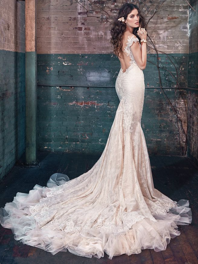 Superior Fairy Tale Wedding Dress Blossom, From Les Reves Bohemians By Galia Lahav,  Is A Vintage Lace Mermaid Dress.