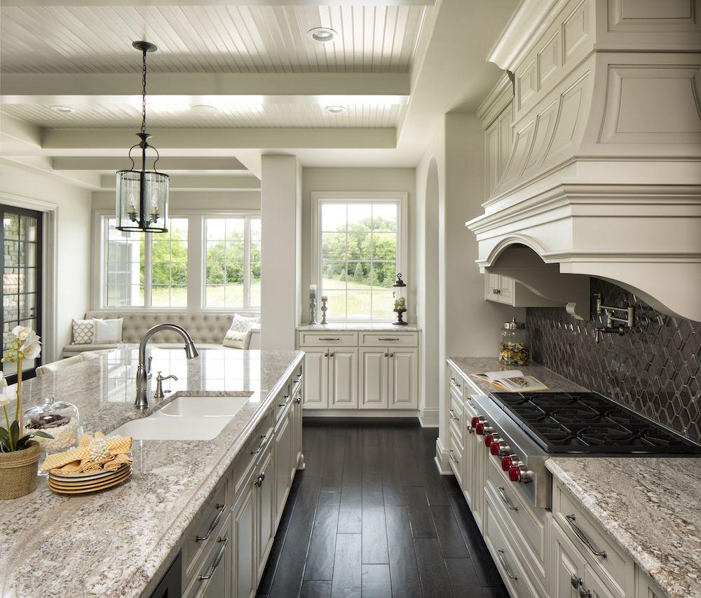 Taupe White Granite Countertops In Kitchen White Granite