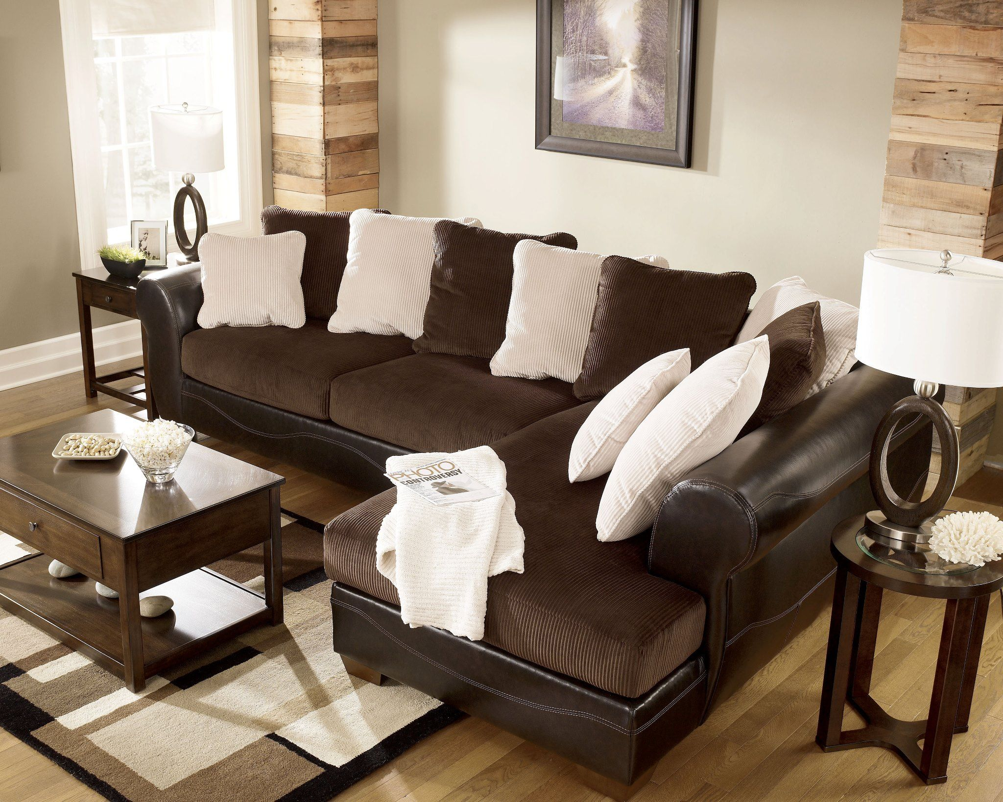 Sofas Victory Chocolate Sectional Ashley Furniture Furniture Ashley Furniture Ashley Furniture Homestore
