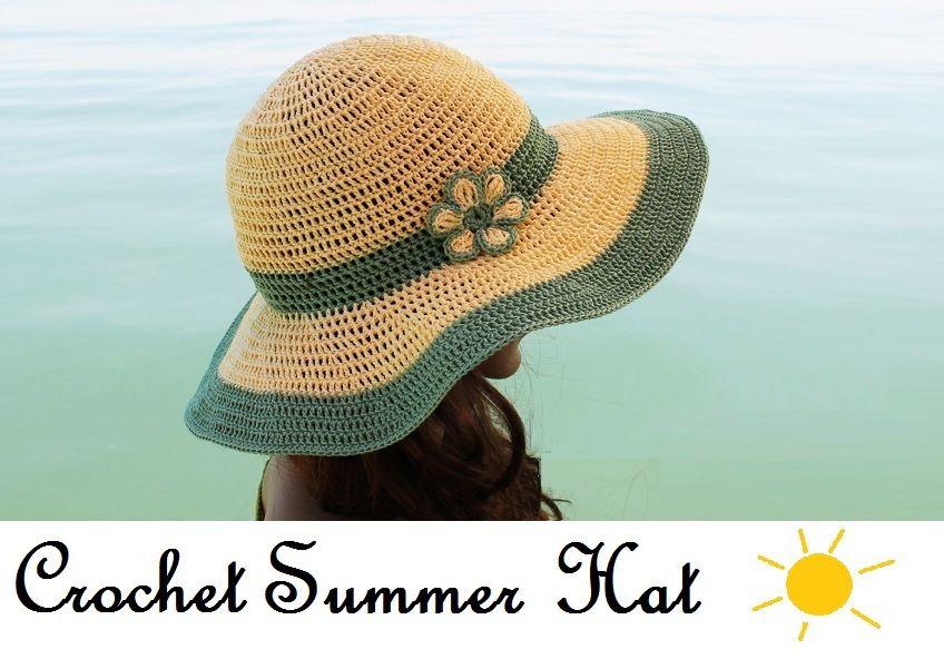Crochet Summer Hat All In One Pattern Video Chart Tutorials More Crochet Summer Hat Summer Crochet Crochet Hats