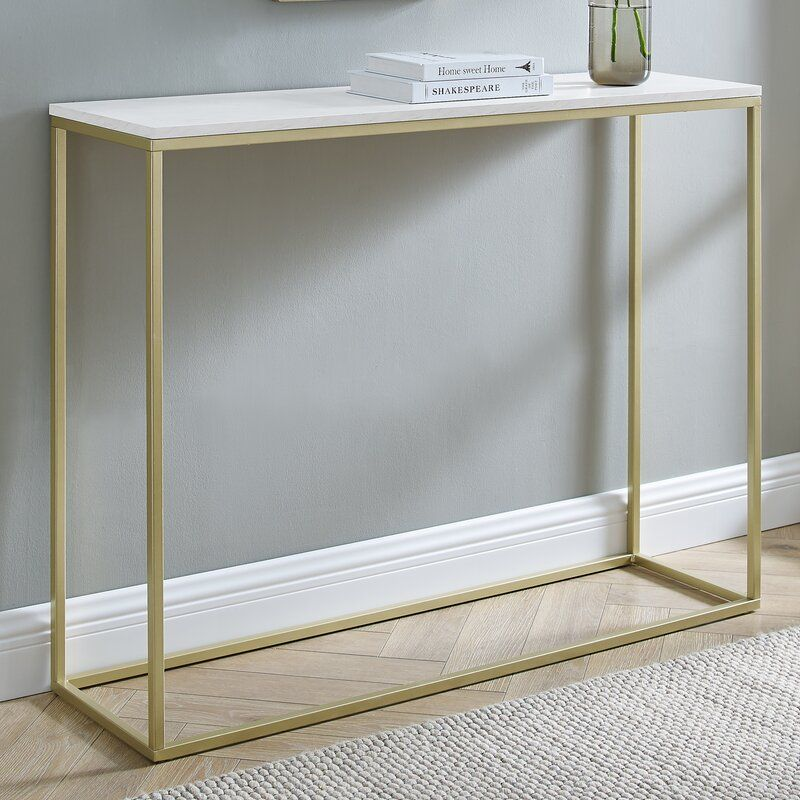 Foundstone Dorian 42 Console Table Reviews Wayfair Console Table Skinny Console Table Contemporary Console Table